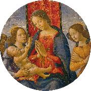 Mainardi, Sebastiano Virgin Adoring the Child with Two Angels oil painting